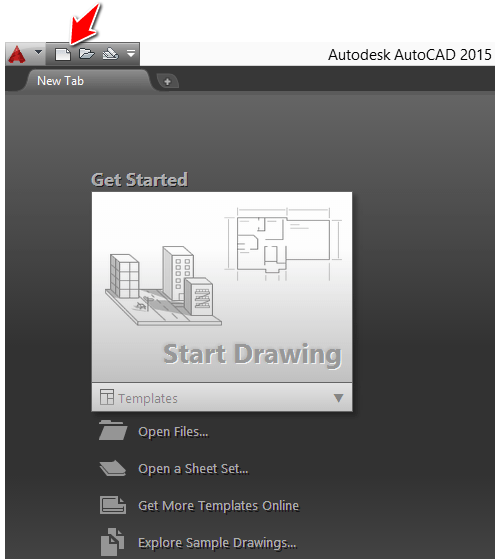 New project autocad