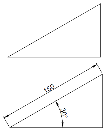 triangle autocad