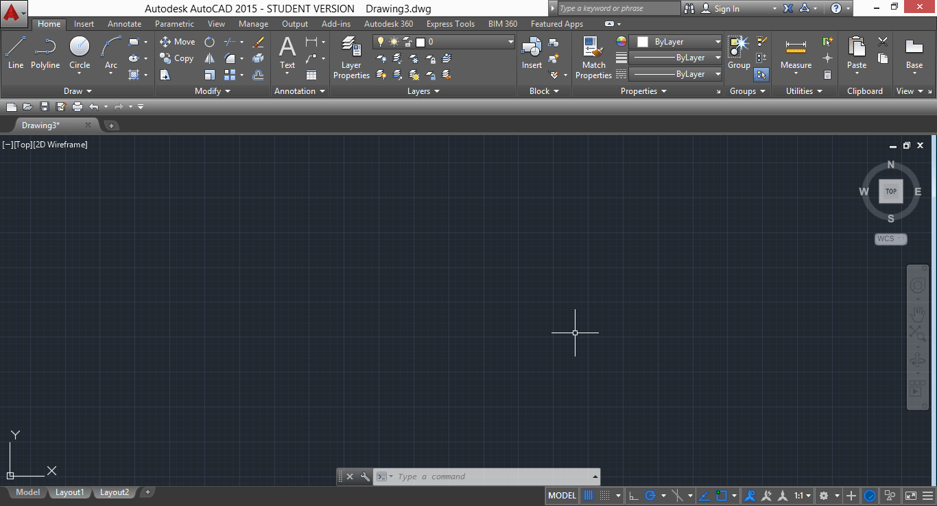 drawing windows autocad