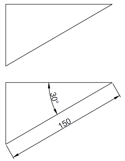 autoCAD triangle exercise