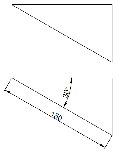 Triangle autocad exercise