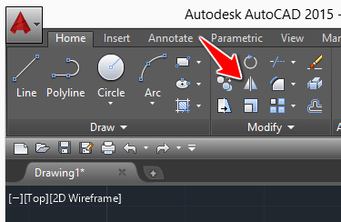 mirror command icon autocad