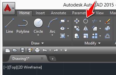 rotate command in autocad