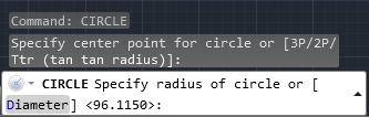 command prompt autocad cicle
