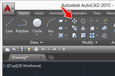 move command in autocad