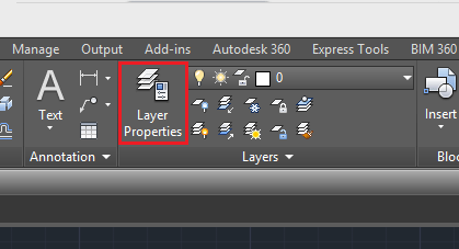layers icon in autocad