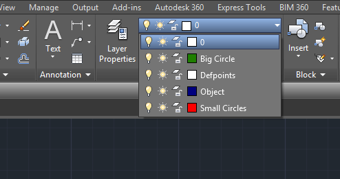 list of layers in autocad