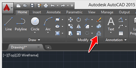 offset command in Autocad