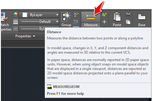 measure in autocad