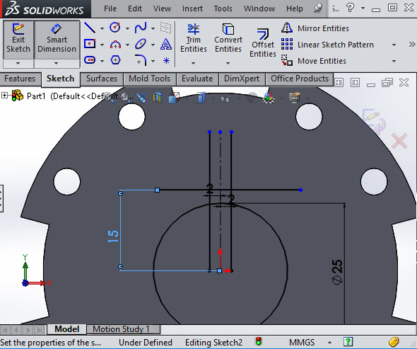 Solidworks trim entities