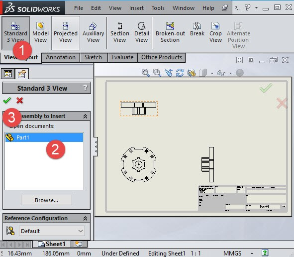 solidworks select part