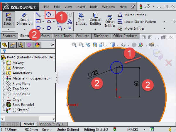 circular pattern solidworks