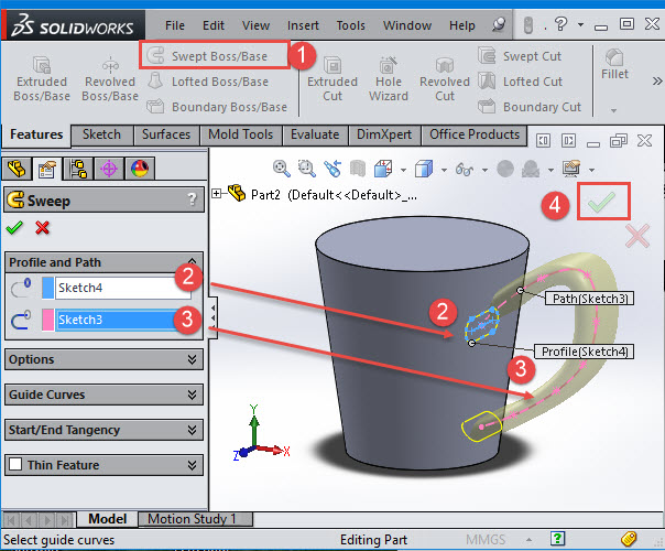 solidworks sweep
