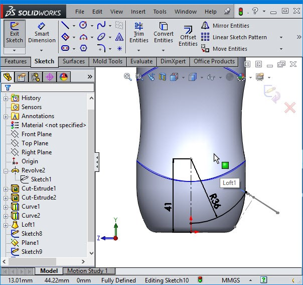 solidworks line guide