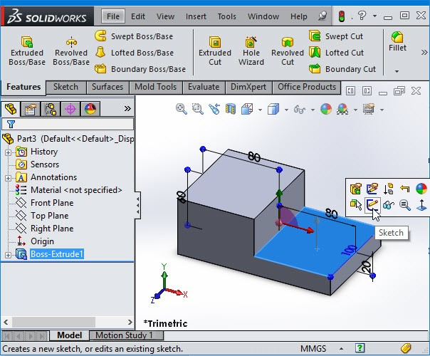 extrude solidworks