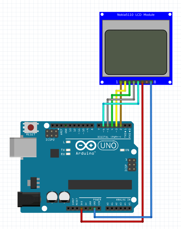 Arduino Count up Timer Using the Nokia 5110 LCD