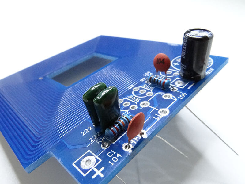 component mounted on a circuit board