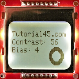 Nokia 5110 Arduino Project printing letters